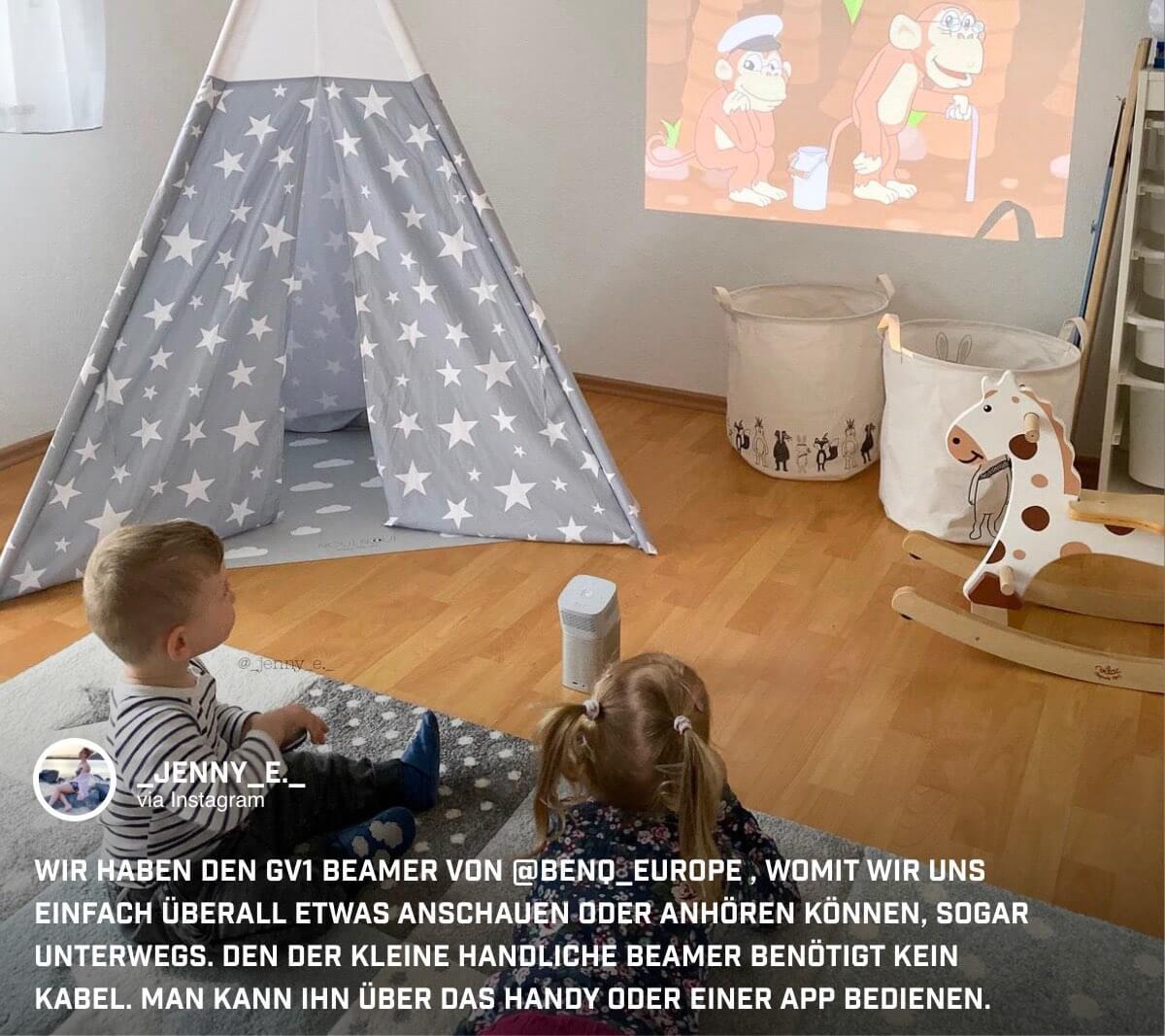 Filmspaß im Kinderzimmer
