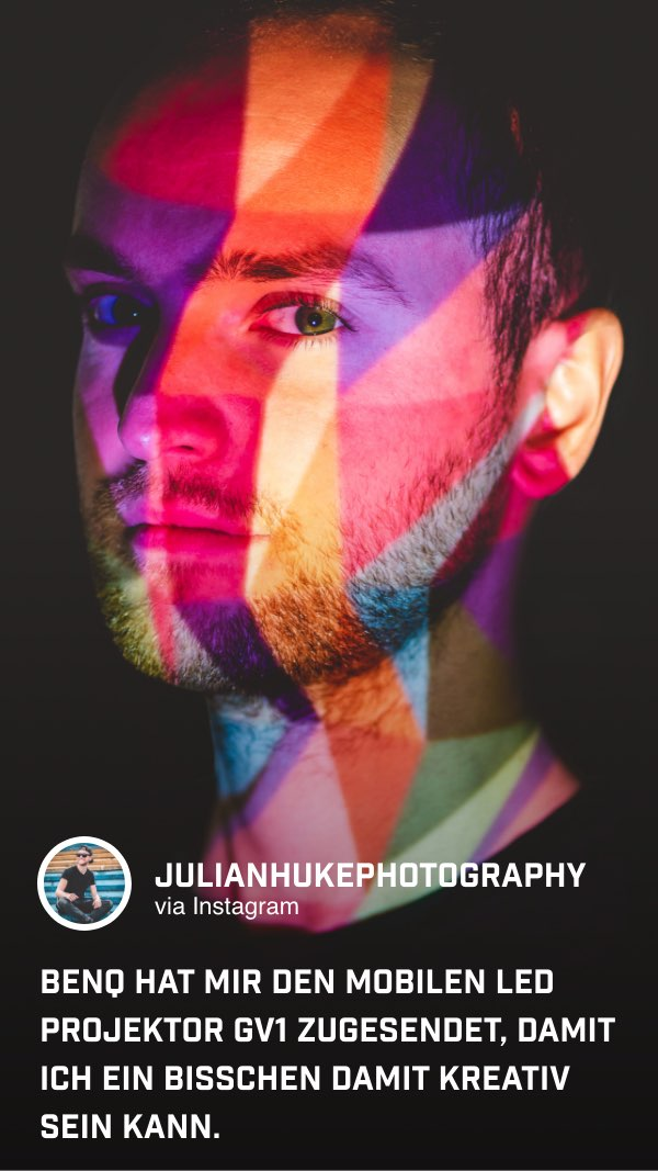 @julianhukephotography nutzt den tragbaren GV1 für kreative Portraits.