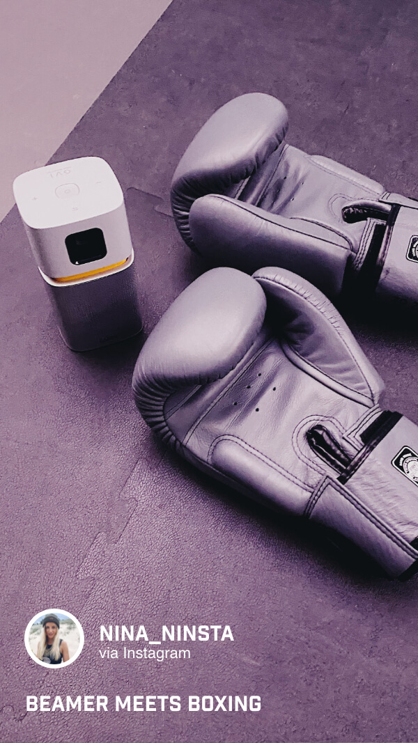 Der GV1 von BenQ ist klein und handlich und passt auch noch in die Sporttasche.