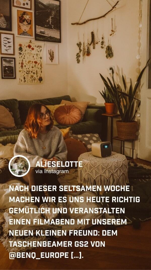 @jalieselotte genießt echtes Heimkinofeeling im eigenen Wohnzimmer
