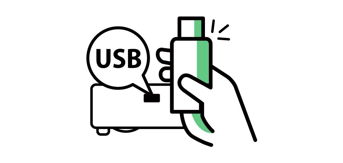 USB prenant en charge un large éventail de formats de fichiers, y compris les fichiers JPEG, PDF, Microsoft Word, Excel et PowerPoint