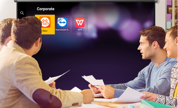 Des applications professionnelles prêtes à l'emploi, améliorant l'efficacité des réunions en permettant d'effectuer les tâches sur place