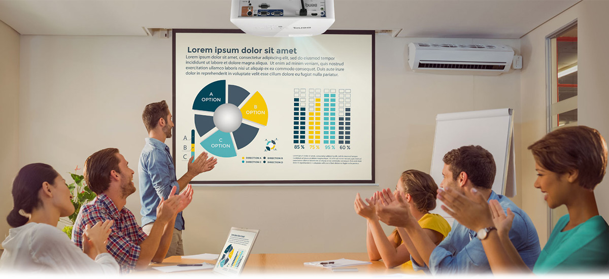 1080p business projector for office meeting room