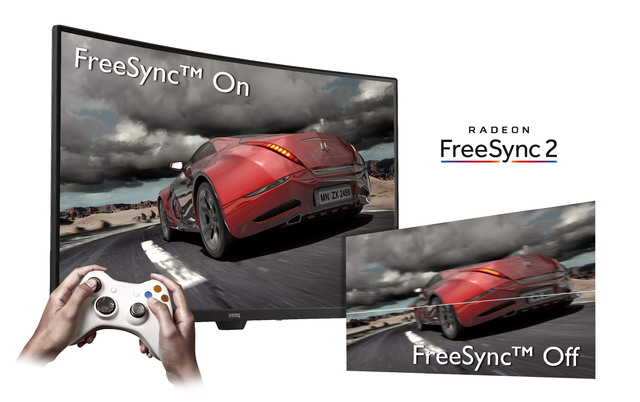 FreeSync compatible monitors prevent tearing up of the image.