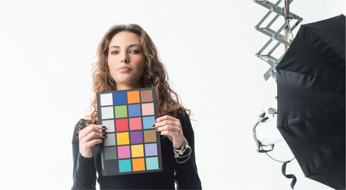 ColorChecker passport being used during capturing of photography