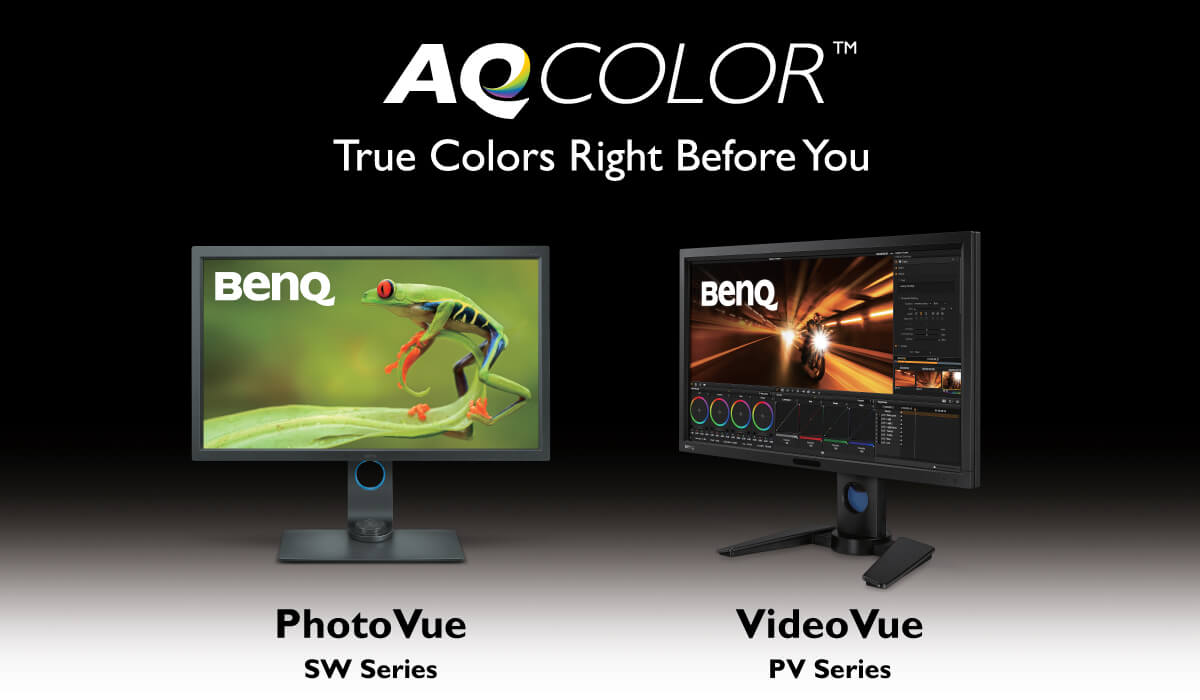 BenQ providing factory-calibrated color performance via AQCOLOR Technology in PD, SW, PV monitors