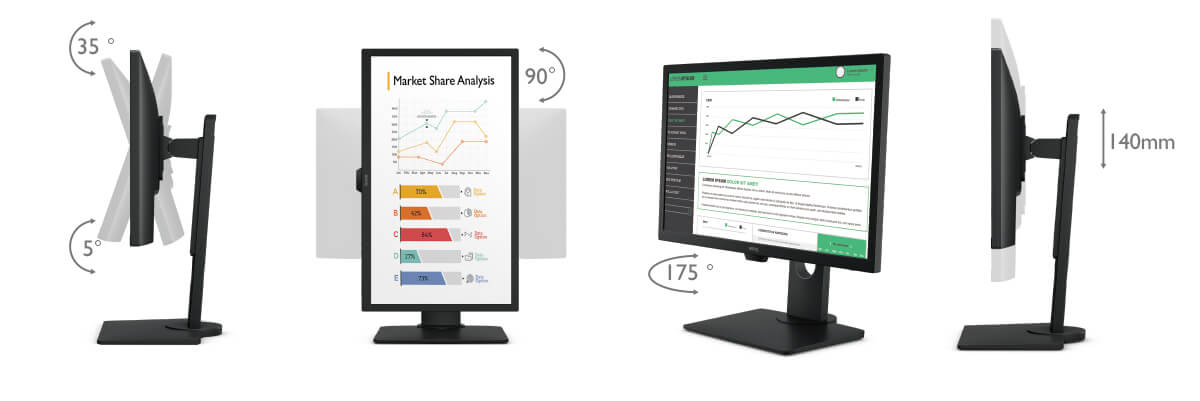 benq BL series business monitor ergonomic deign for great comfort and convenience
