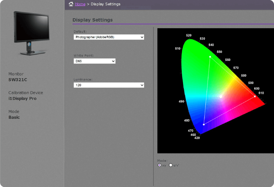 to achieve color accuracy with a simple user interface with palette master element basic mode