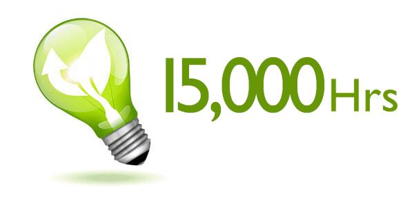 Ahorro de energía y larga vida útil de la lámpara hasta 15.000 horas.