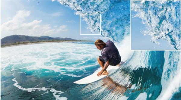4K Pixel Enhancer tạo ra các cạnh sắc nét và kết cấu bề mặt chính xác