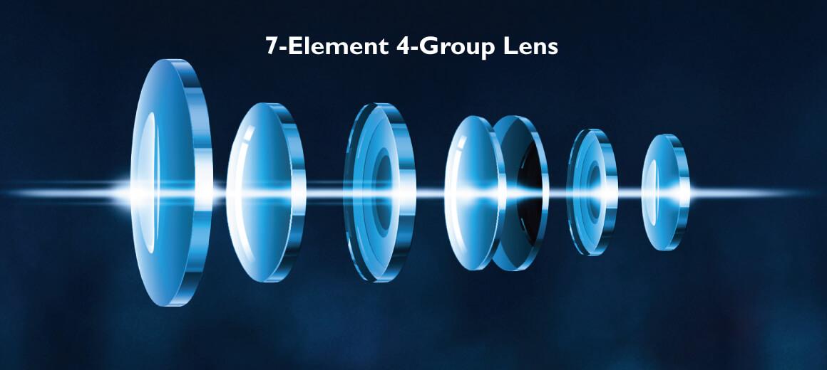 Sistema de lentes 4K con óptica impecable