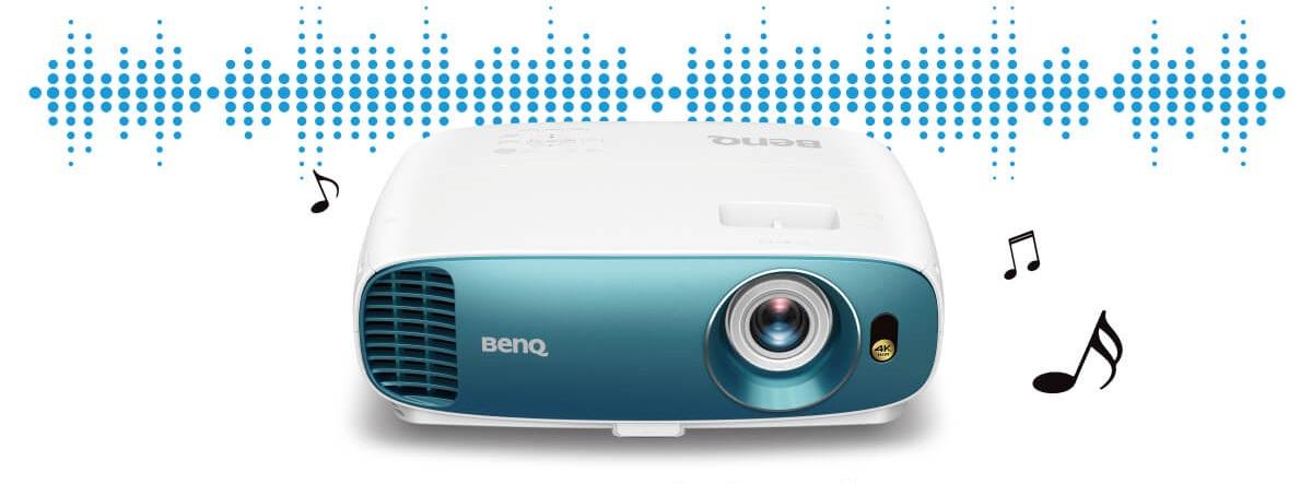 El proyector TK800 M ofrece cinemaMaster Audio+ 2 para un sonido imponente