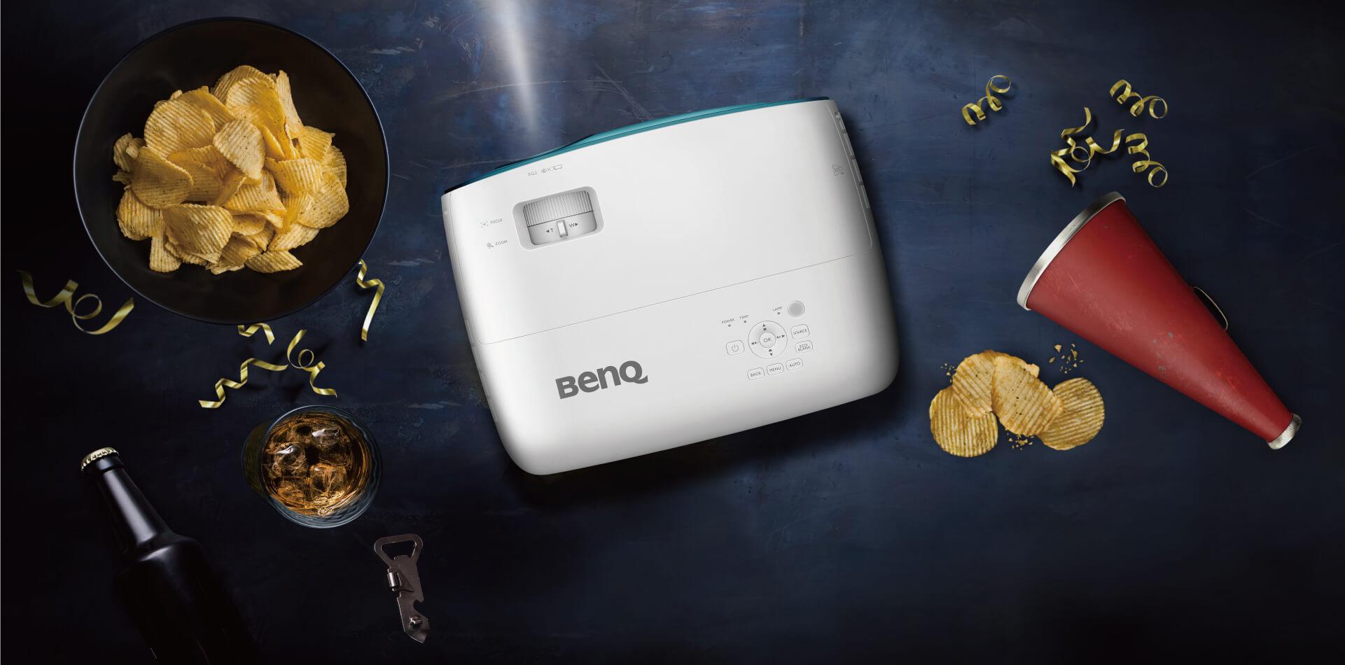 El proyector Benq TK800M presenta un diseño ligero y elegante.