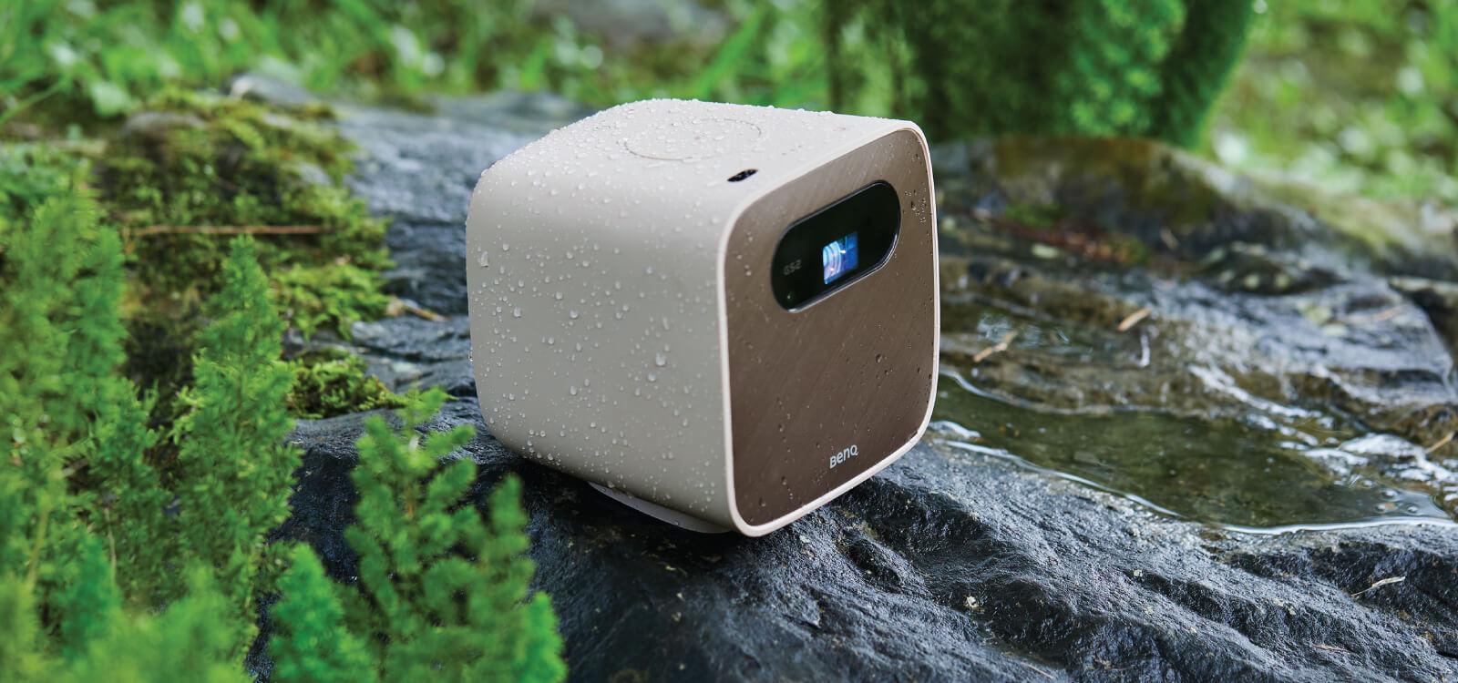 Der GS2 ist für Outdoor-Aktivitäten gewappnet. Kleine Stürze und Wasserspritzer übersteht der tragbare Projektor ohne Probleme.