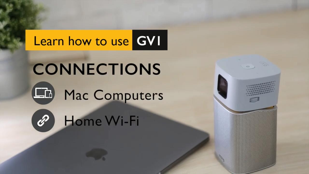 A projektor csatlakozik a mac-hez