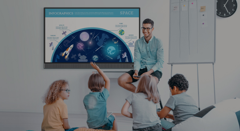 Teacher uses BenQ interactive display to teach and engage students in the classroom