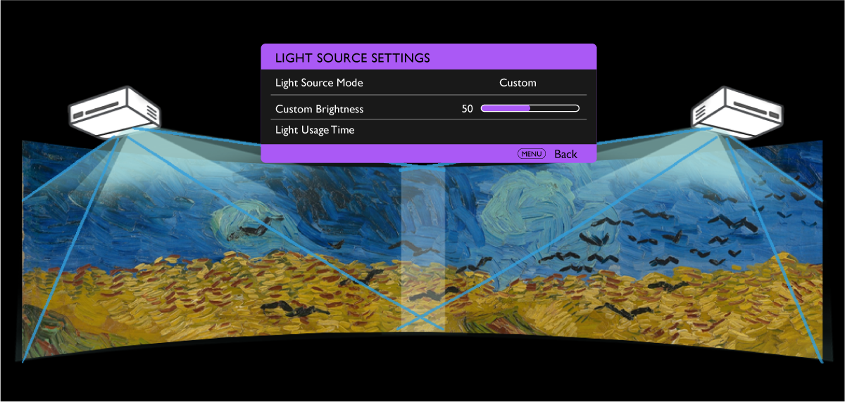 BenQ LU960UST Custom Light Mode for ambient lighting situations